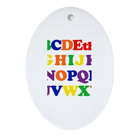 Ethan - Alphabet Oval Ornament