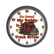 Proud of Daddy Wall Clock