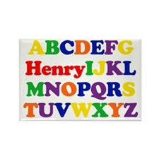 Henry - Alphabet Rectangle Magnet (10 pack)