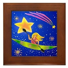 Star Kayaker Framed Tile