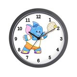 Lil Blue Elephant Tennis Wall Clock