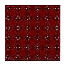 Scarlet Web Tile Coaster
