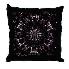 Slate/Buff Abstract Throw Pillow