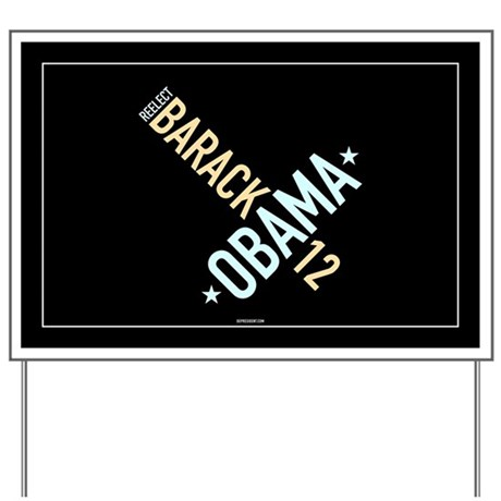 Twisted Black & Gray Obama Yard Sign