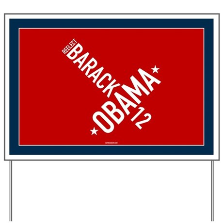 Twisted Red, White & Blue Obama Yard Sign