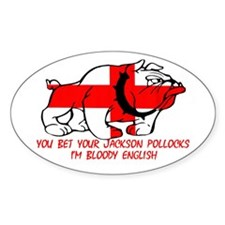 Cockney Rhyme Bulldog Oval Stickers