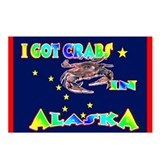 I Got Crabs in Alaska Postcards (Package of 8)