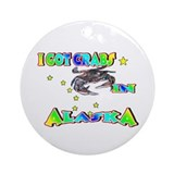 I Got Crabs in Alaska Ornament (Round)