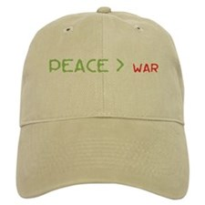 Peace > War Baseball Cap