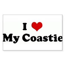 I Love My Coastie Rectangle Decal