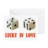 LUCKY DICE Greeting Cards (Pk of 10)
