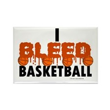 I Bleed Basketball Rectangle Magnet (10 pack)