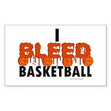 I Bleed Basketball Rectangle Decal