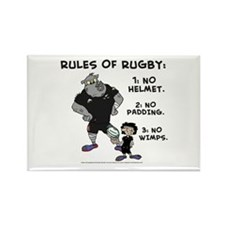 Rules of Rugby Black Rectangle Magnet