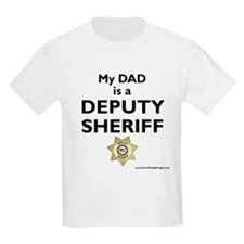 """My Dad Is A Deputy Sheriff"" Kids T-Shir"