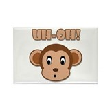 Uh-Oh! Monkey Rectangle Magnet (100 pack)