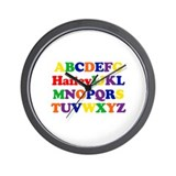 Hailey - Alphabet Wall Clock