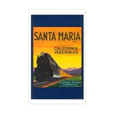 Santa Maria Brand Rectangle Decal