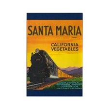 Santa Maria Brand Rectangle Magnet