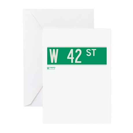 42nd Street in NY Greeting Cards (Pk of 10)