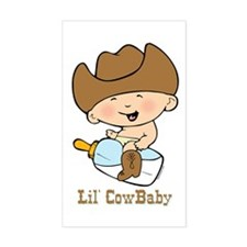 Lil' Cowbaby Boy Rectangle Decal