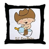 Lil' Cowbaby Boy Throw Pillow