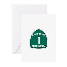 Santa Barbara, California Hig Greeting Cards (Pk o