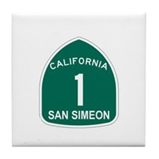 San Simeon, California Highwa Tile Coaster