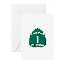 San Francisco, California Hig Greeting Cards (Pk o