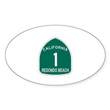Redondo Beach, California Hig Oval Decal