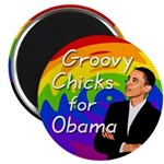 Groovy Chicks for Obama Magnet