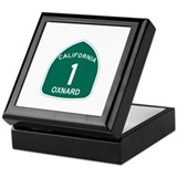 Oxnard, California Highway 1 Keepsake Box