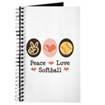 Peace Love Softball Journal