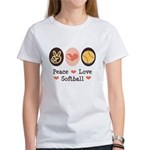 Peace Love Softball Team Women's T-Shirt
