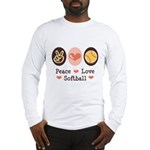 Peace Love Softball Team Long Sleeve T-Shirt