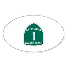 Laguna Beach, California High Oval Decal