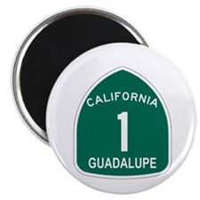 """Guadalupe, California Highway 2.25"""" Magnet (10 pac"""