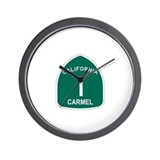 Carmel, California Highway 1 Wall Clock