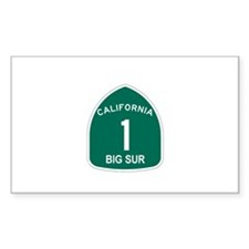 Big Sur, California Highway 1 Sticker (Rectangular