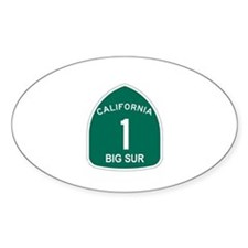 Big Sur, California Highway 1 Oval Decal