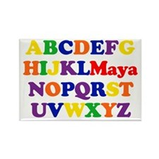 Maya - Alphabet Rectangle Magnet (10 pack)