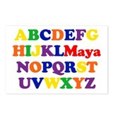 Maya - Alphabet Postcards (Package of 8)