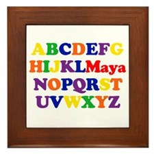 Maya - Alphabet Framed Tile