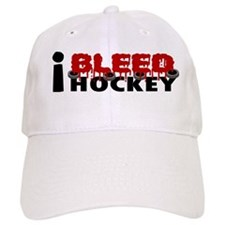 I Bleed Hockey Baseball Cap
