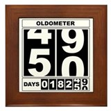 50th Birthday Oldometer Framed Tile