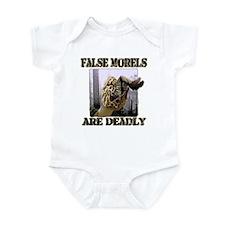 false morel mushroom Infant Bodysuit