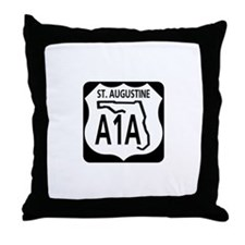 A1A St. Augustine Throw Pillow