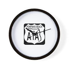 A1A Pompano Beach Wall Clock