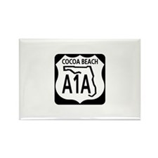 A1A Cocoa Beach Rectangle Magnet