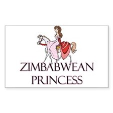 Zimbabwean Princess Rectangle Decal
